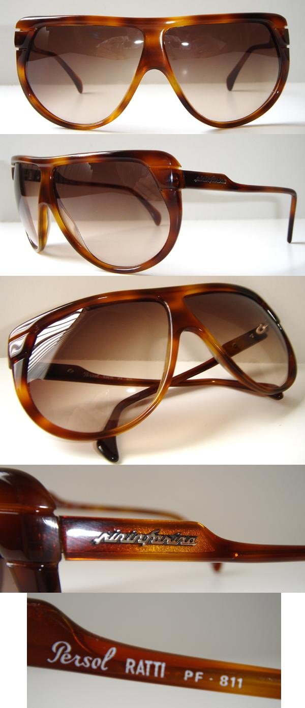 ebb13d2cce3b Details about Rare Vintage PININFARINA Persol RATTI PF 811 Brown Made in  ITALY